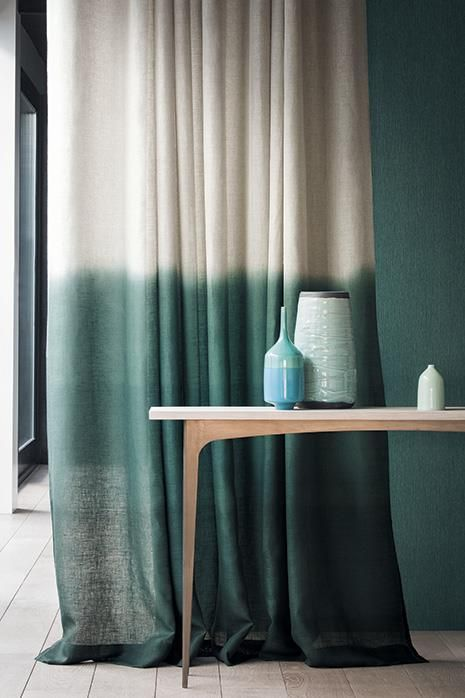 rideau tie and dye vert déco décoration