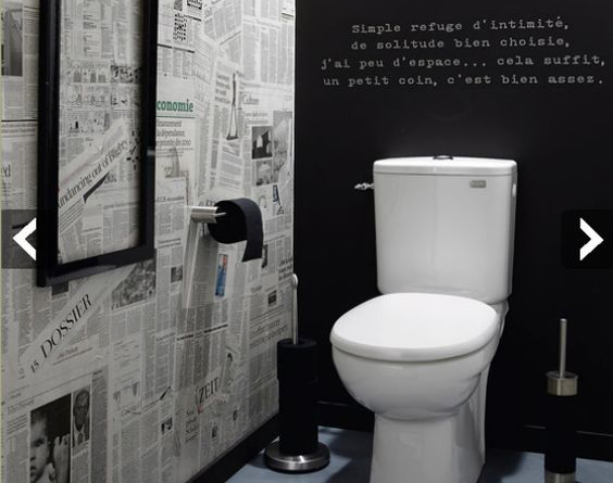 Les wc une d co ne pas n gliger blog ma maison mon jardin for Toilette carrele