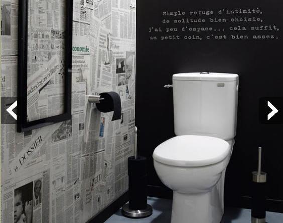D co toilettes geek for Decoration maison chasse