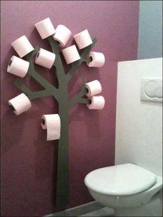 Arbre dérouleur papier toilette stockage WC