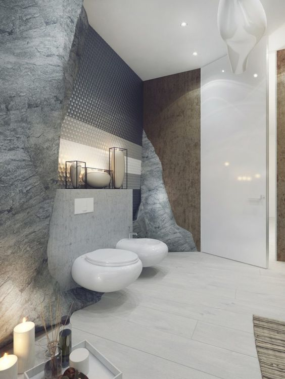 Les wc une d co ne pas n gliger blog ma maison mon for Decoration toilette design