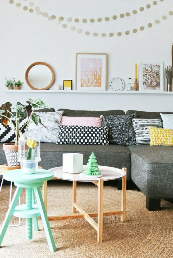 décoration pastel style doux confortable vintage murs blancs