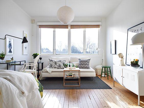 murs blancs pièce épurée salon naturel confort zen