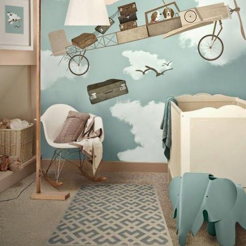 Chambre enfant savane photo de la chambre savane for Theme chambre bebe garcon