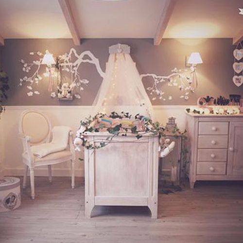 D coration chambre b b romantique for Photo decoration chambre bebe fille