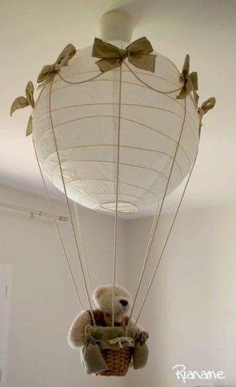 DIY lustre montgolfière chambre bébé déco