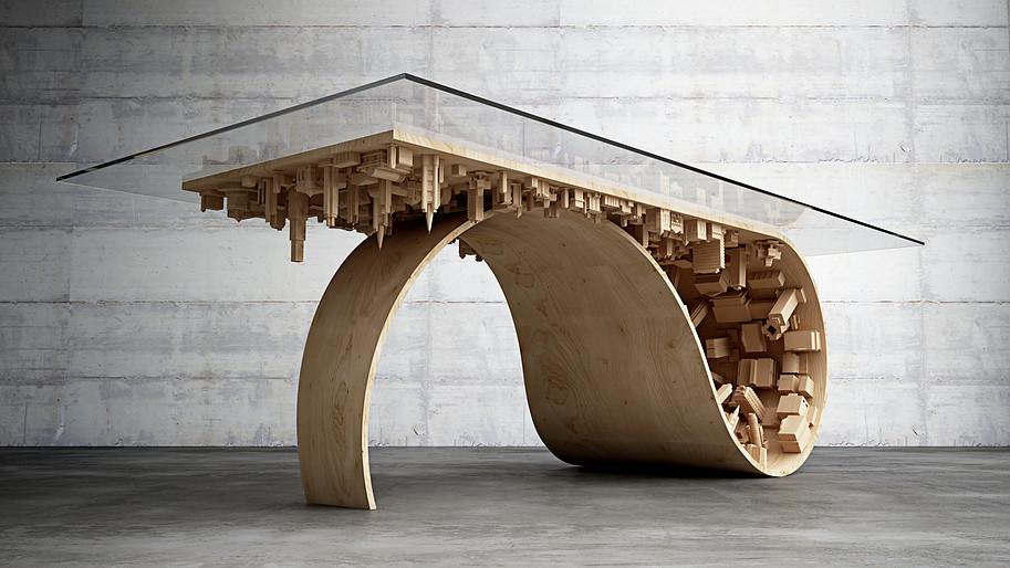Table design wave city Inception bâtiments architecture