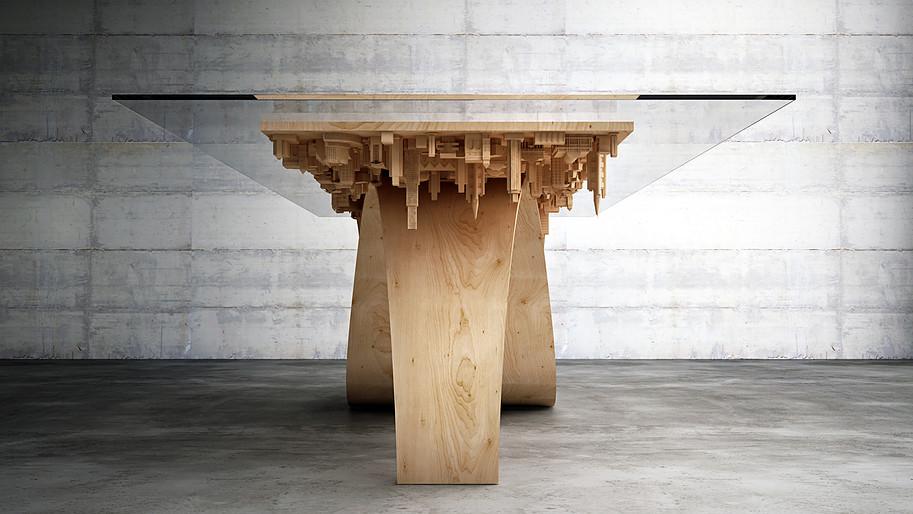 table à manger Inception architecture Stelios Mousarris