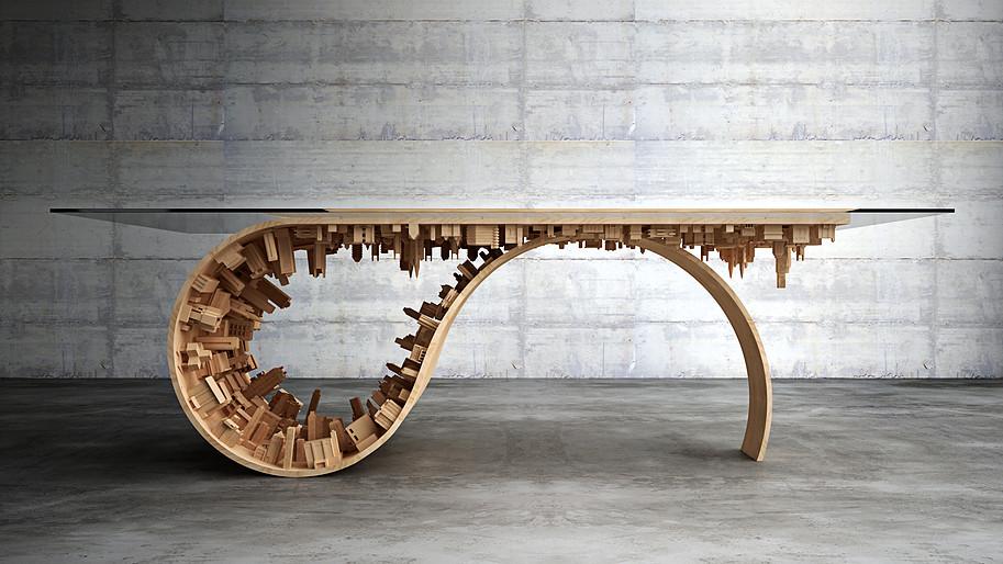 table bois design architecte designer Stelios Mousarris Inception