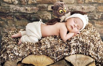 bébé peluche hibou texture douce déco