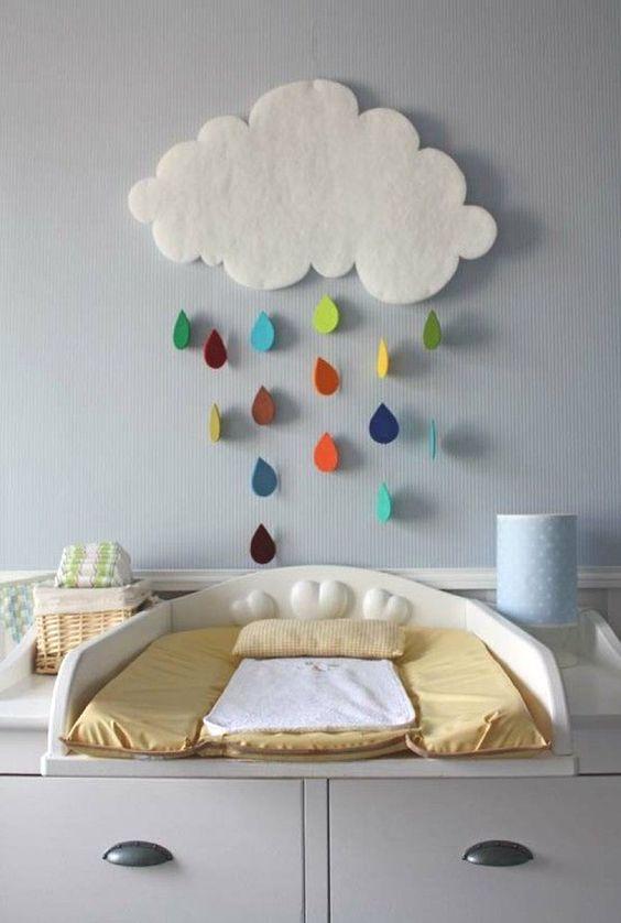 13 id es d co pour customiser la chambre de b b blog ma maison mon jardin for Decoration nuage chambre bebe