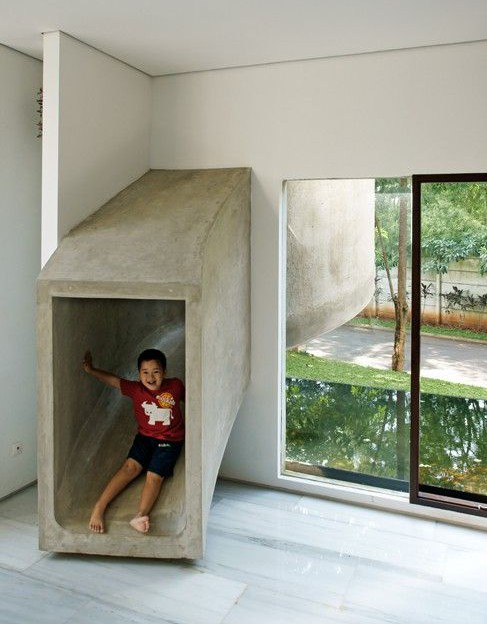 Toboggan interieur enfants adultes accueil design et mobilier - Toboggan d interieur ...