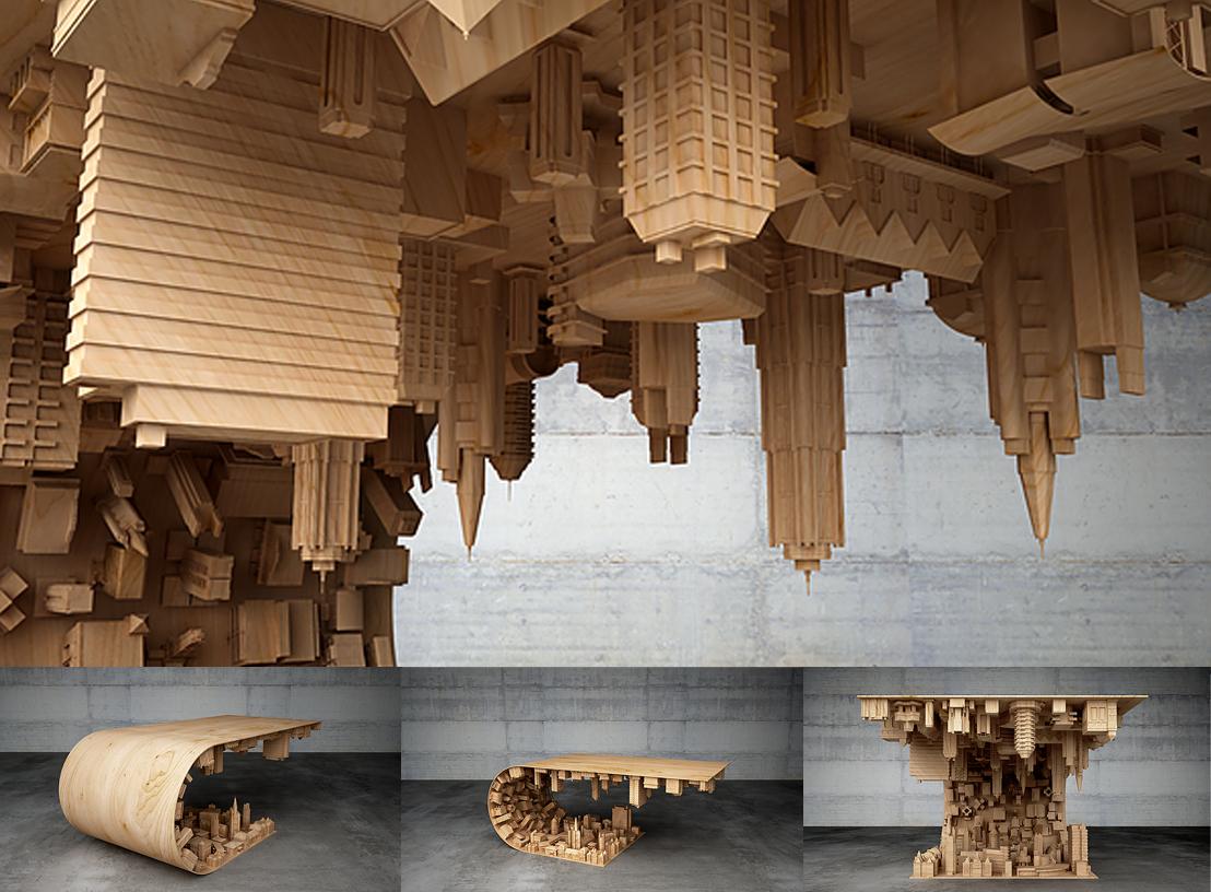 table basse café film Inception designer Mousarris