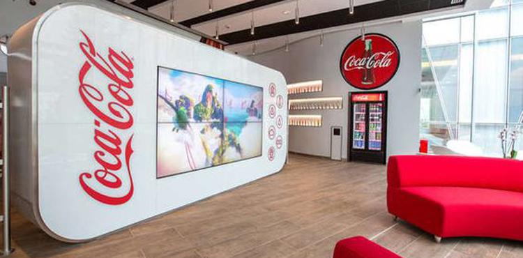 les locaux design et high-tech du groupe Coca-Cola France