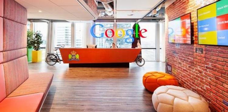 accueil original de l'entreprise Google