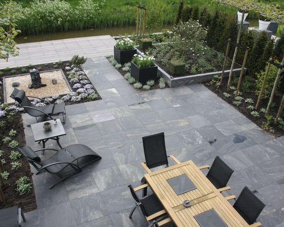 l'ardoise est le revêtement moderne et tendance des terrasses en 2016