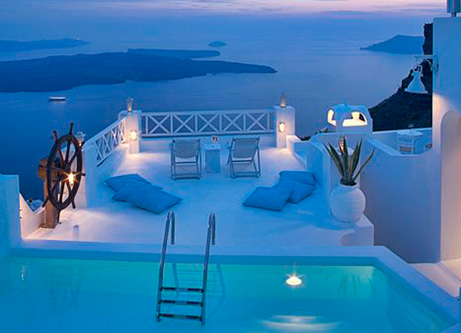 Maisons blanches en gr ce une architecture qui nous for Ask yourself why la piscine