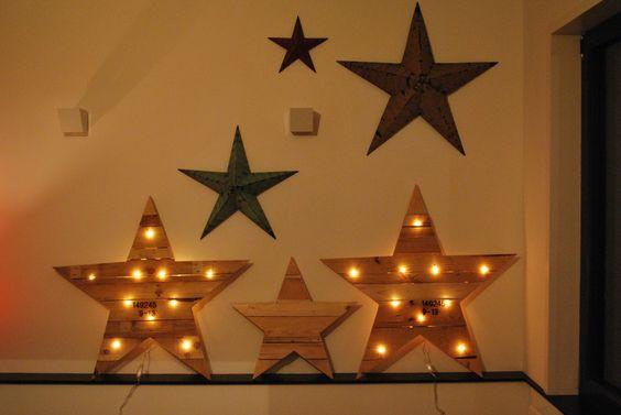 des étoiles lumineuses ou non pour décorer le mur