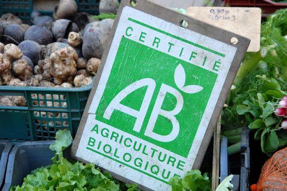 étiquette agriculture biologique au jardin