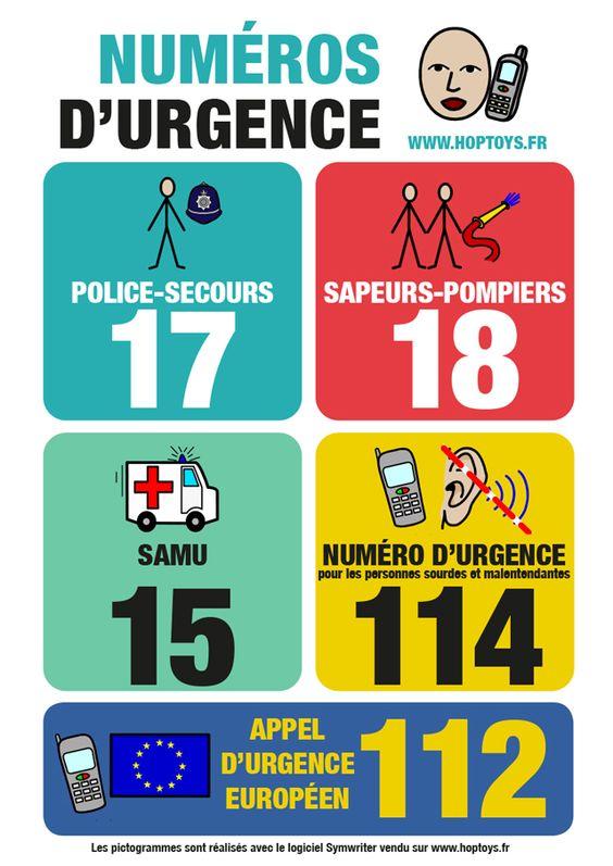 Numéros d'urgence à appeler pour la sécurité de votre enfant en cas d'accident domestique.