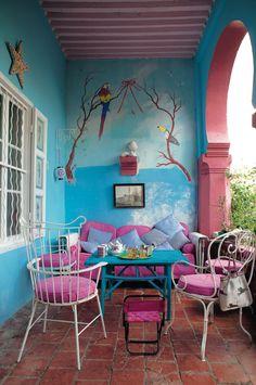 Un balcon en couleurs