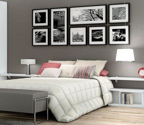 Une chambre moderne avec des tableaux au mur : l'atout décou design.
