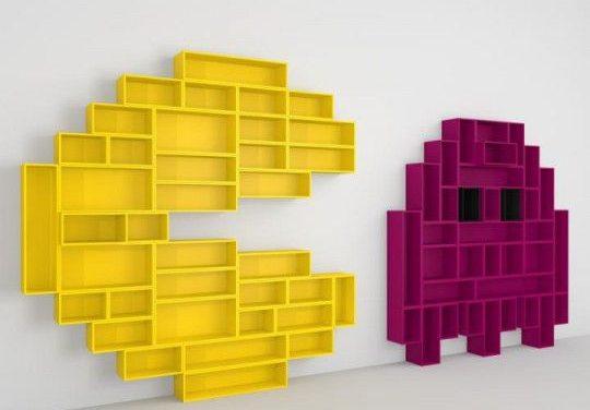 Etagères colorées façon Pacman : déco originale en perspective !