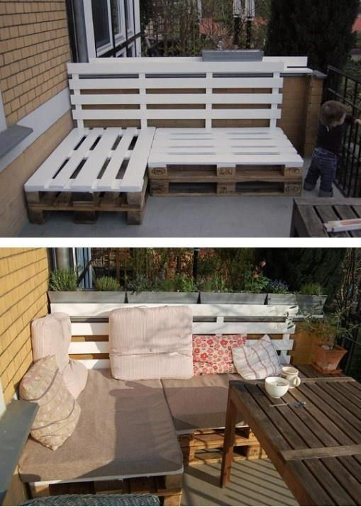Balcon comment se cr er un cocon ext rieur blog ma for Banquette palette exterieure