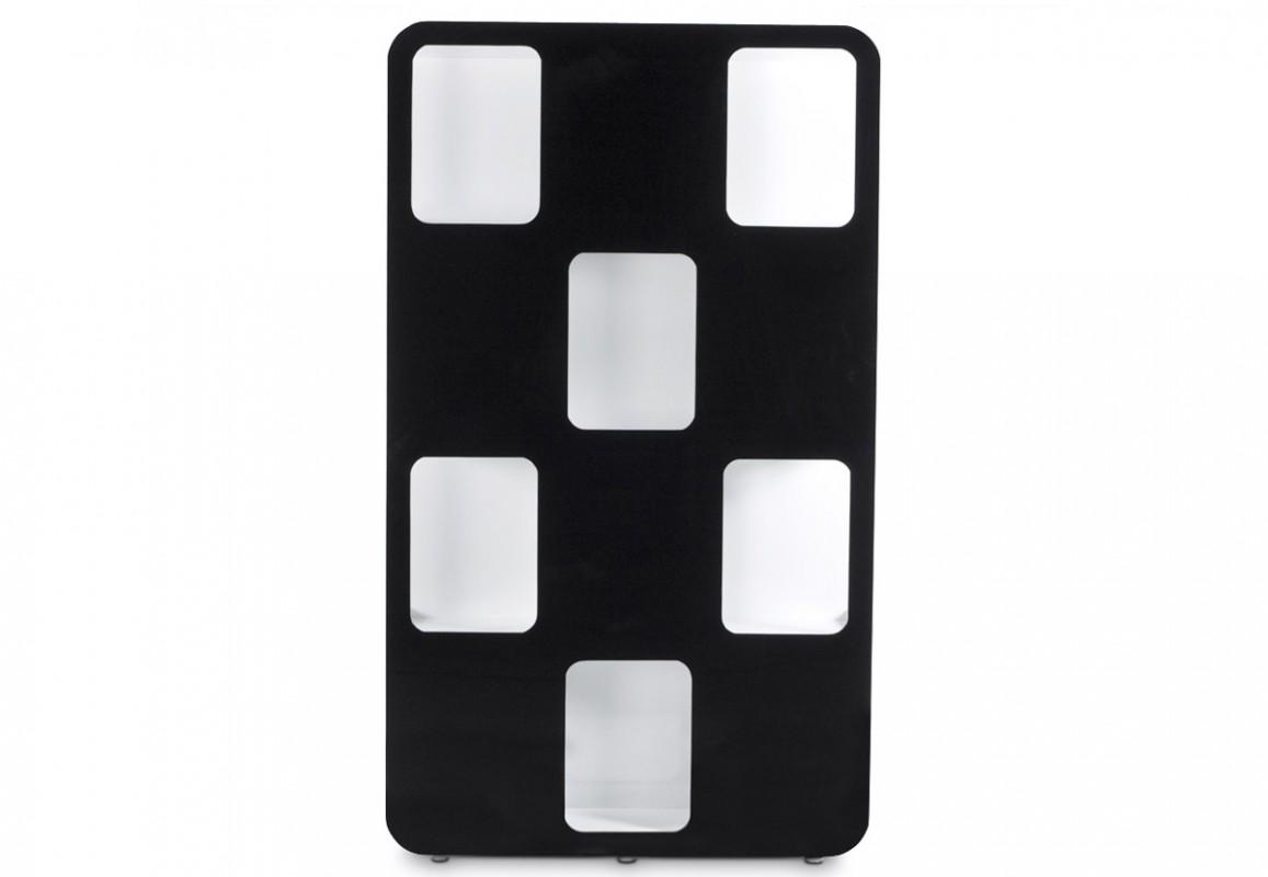 Bibliothèque noire et blanche laquée pour ranger vos livres dans un meuble design et tendance !