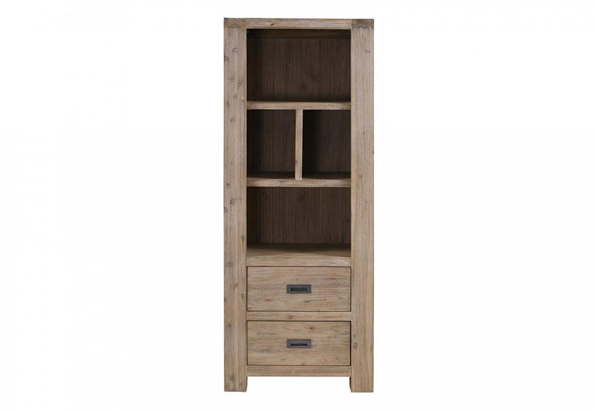 Une bibliothèque en acacia : un meuble en bois pour ranger vos livres.