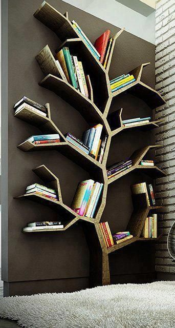 Une bibliothèque en arbre pour ranger ses livres