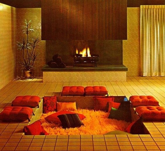 inspiration spa hammam pour ce salon encastré design