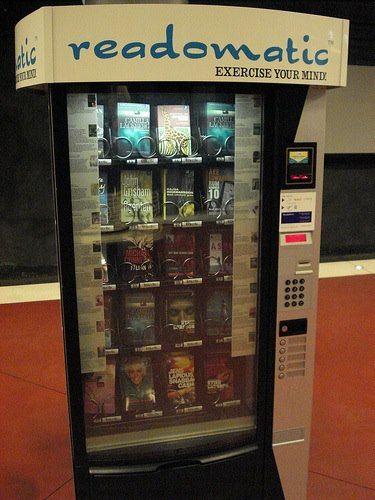 Une machine distributeur à livres