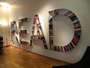 Une bibliothèque originale : ranger ses livres sur des étagères étonnantes