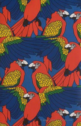 Un papier peint perroquet  improbable : moche !