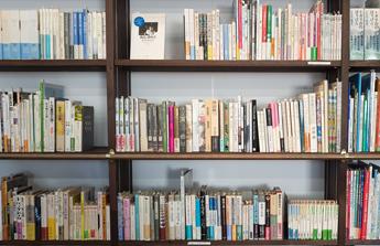 Une bibliothèque remplie de bouquins