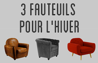 Nos 3 fauteuils pour passer l'hiver au chaud ❄️