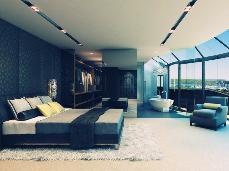 faire une suite nuptiale avec baignoire dans la chambre. Black Bedroom Furniture Sets. Home Design Ideas