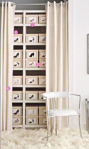 Un rangement simple et efficace : la boîte à chaussures !