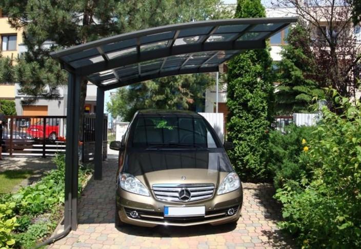 Oser le bois pour son abri voiture blog ma maison mon jardin - Abri voiture aluminium ...