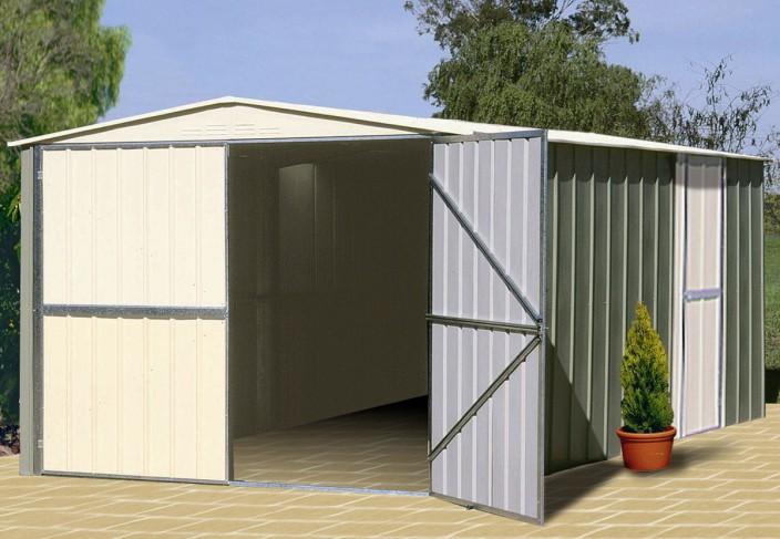 Garage ou abri pour le jardin en métal acier galvanisé pas cher
