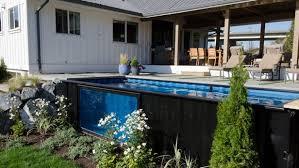 Des piscines à base de conteneurs en acier