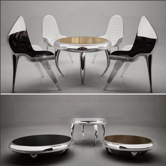 Du mobilier design en métal et bois