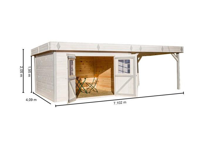 Couverture de terrasse fermée en kit