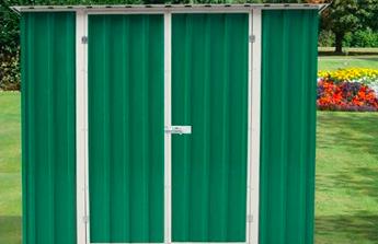 L'exemple d'un abri de jardin métal au toit simple pente