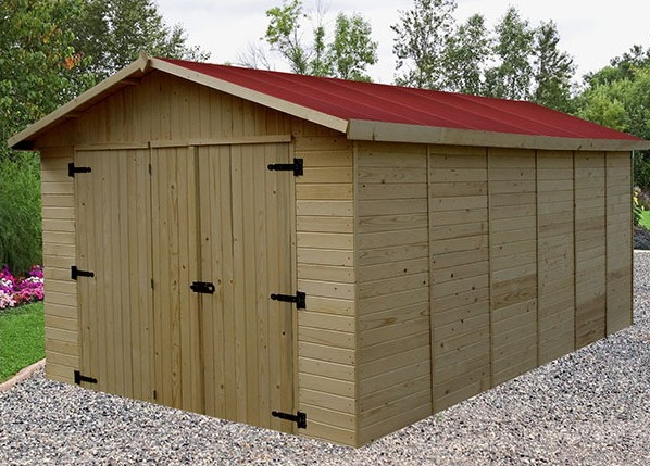 garage bois brut