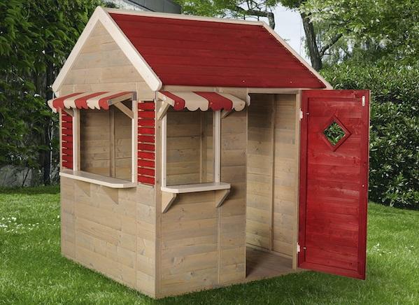 maisonnette en bois en forme d'épicerie