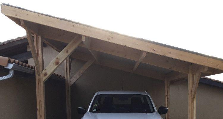 Ossature bois monopente