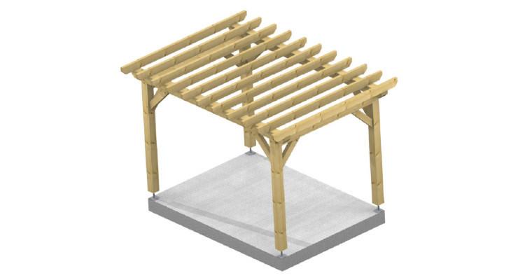 Ossature bois adossé toit plat