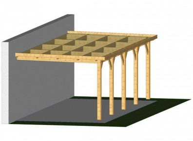 charpente à toit plat